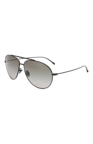 Солнцезащитные очки Giorgio Armani. Цвет: зелёный