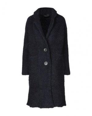 Пальто ROBERTO COLLINA. Цвет: темно-синий