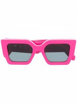 Солнцезащитные очки Catalina в квадратной оправе Off-White. Цвет: серый