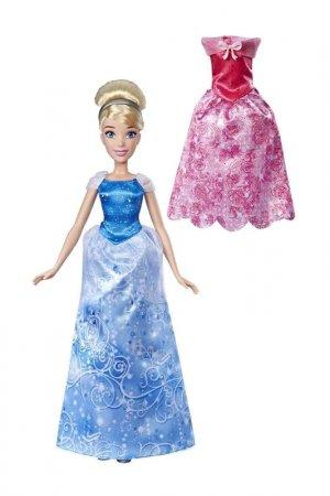 Кукла Золушка с нарядами Disney Princess. Цвет: синий, розовый