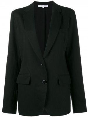 Однобортный пиджак Alexander Terekhov. Цвет: черный