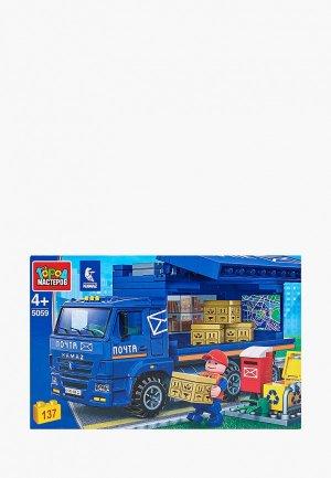 Конструктор Город Мастеров КАМАЗ: почтовая служба, 137 деталей. Цвет: разноцветный
