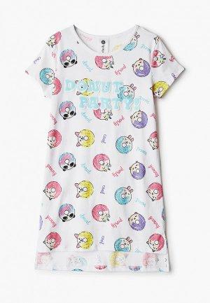 Сорочка ночная Infinity Kids. Цвет: белый