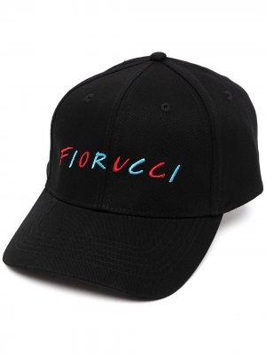 Кепка с логотипом Fiorucci. Цвет: черный