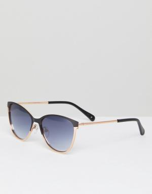 Черные солнцезащитные очки кошачий глаз TB1500 004 Mila Ted Baker. Цвет: черный