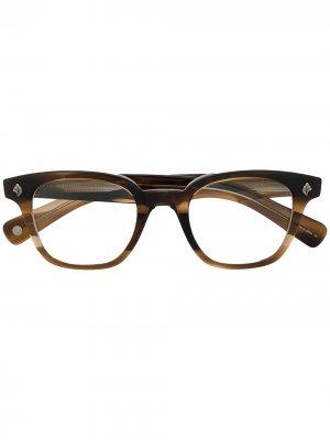 Солнцезащитные очки черепаховой расцветки Garrett Leight. Цвет: коричневый