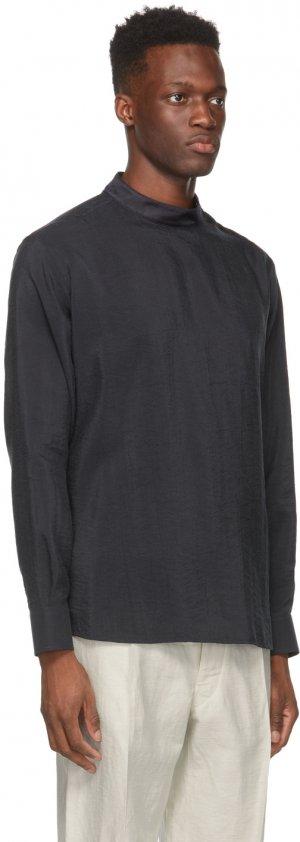 Black Silk Whipcord Shirt Giorgio Armani. Цвет: ubs7 black