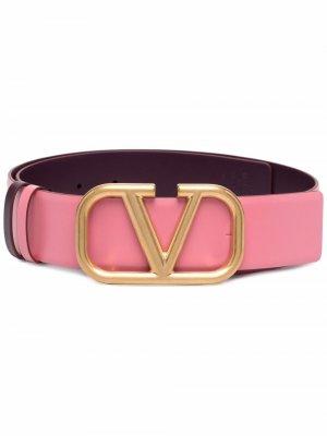 Ремень с логотипом VLogo Signature Valentino Garavani. Цвет: розовый