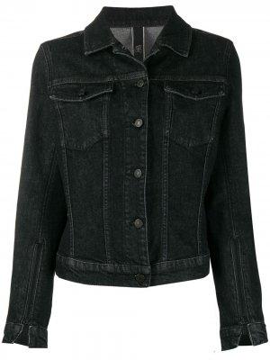 Приталенная джинсовая куртка Hogan. Цвет: черный