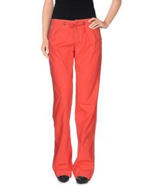 Повседневные брюки FREESOUL. Цвет: коралловый