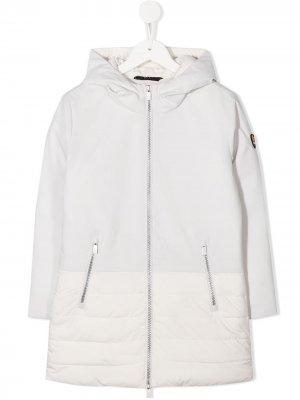 Пальто на молнии с капюшоном Ciesse Piumini Junior. Цвет: белый