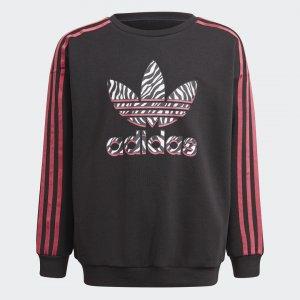 Свитшот Graphic Print Originals adidas. Цвет: черный