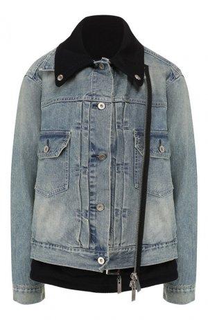 Джинсовая куртка Sacai. Цвет: голубой