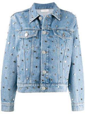 Декорированная джинсовая куртка Sandro Paris. Цвет: синий
