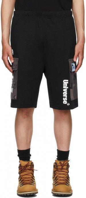 Black Logo Sweat Shorts AAPE by A Bathing Ape. Цвет: bkx black