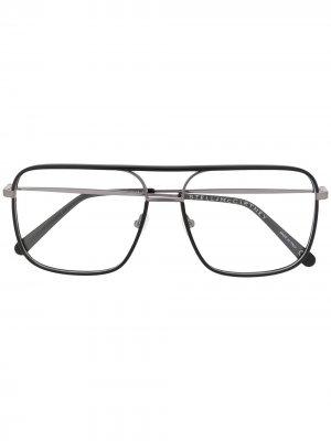 Очки в прямоугольной оправе Stella McCartney Eyewear. Цвет: черный