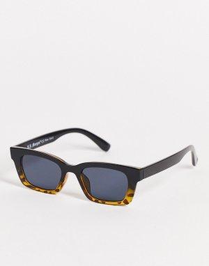 Черные квадратные солнцезащитные очки в стиле унисекс -Черный цвет AJ Morgan
