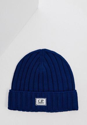 Шапка C.P. Company. Цвет: синий