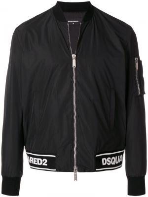 Куртка-бомбер с логотипом Dsquared2. Цвет: черный