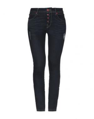Джинсовые брюки FORNARINA. Цвет: синий