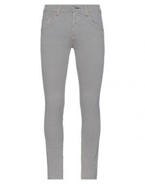 Повседневные брюки HTC. Цвет: серый