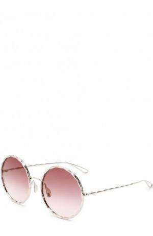 Солнцезащитные очки Elie Saab. Цвет: серебряный