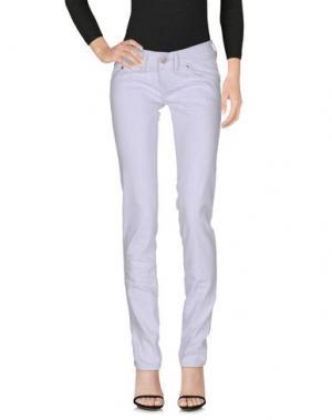 Джинсовые брюки FREESOUL. Цвет: сиреневый