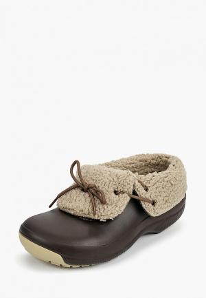 Галоши Crocs CR014AUCQKB6. Цвет: коричневый
