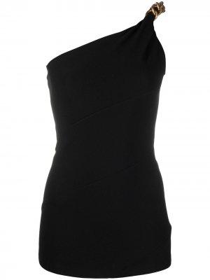 Топ на одно плечо с цепочкой Givenchy. Цвет: черный