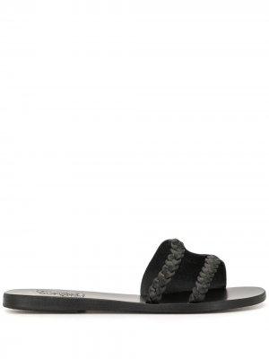 Сандалии с плетеным ремешком Ancient Greek Sandals. Цвет: черный