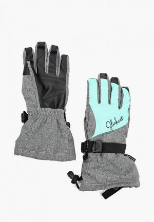Перчатки горнолыжные High Experience. Цвет: серый