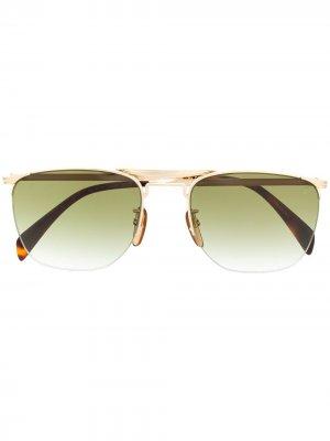 Солнцезащитные очки DB 1001/S в полуободковой оправе Eyewear by David Beckham. Цвет: золотистый