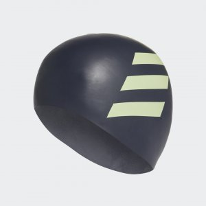 Плавательная шапочка 3-Stripes Silicone Performance adidas. Цвет: желтый