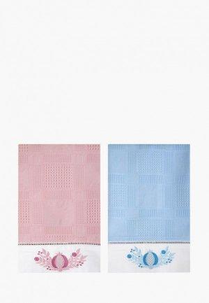 Набор полотенец кухонных Bellehome Гранатовый браслет, 50х70 см. Цвет: разноцветный