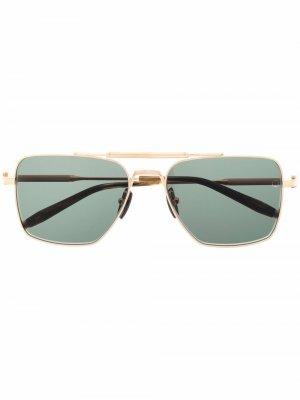 Солнцезащитные очки Eos в квадратной оправе Akoni. Цвет: золотистый