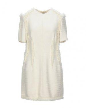 Короткое платье LANVIN. Цвет: слоновая кость