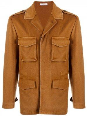 Кашемировая куртка с карманами Boglioli. Цвет: коричневый