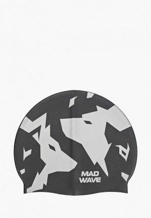Шапочка для плавания MadWave WOLFS. Цвет: черный