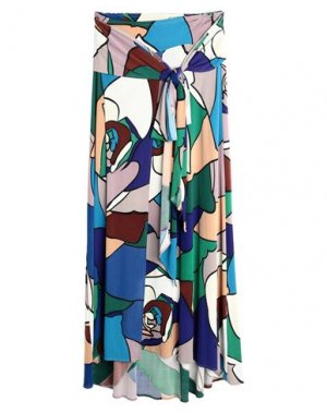 Длинная юбка ISSA. Цвет: зеленый