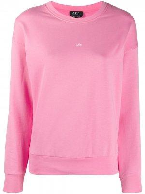 Толстовка с логотипом A.P.C.. Цвет: розовый