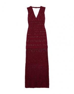 Длинное платье HERVÉ LÉGER. Цвет: красно-коричневый