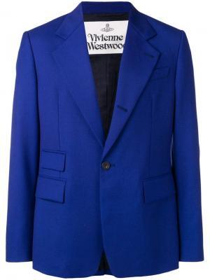 Блейзер с широкими лацканами Vivienne Westwood. Цвет: синий