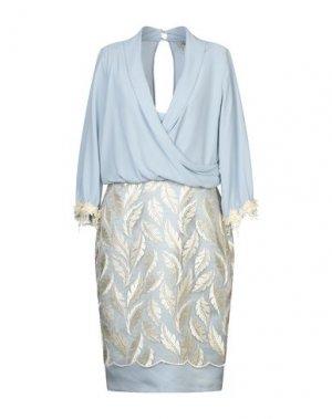 Платье до колена CASTING. Цвет: небесно-голубой