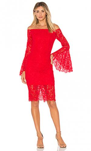 Платье миди solange Bardot. Цвет: красный