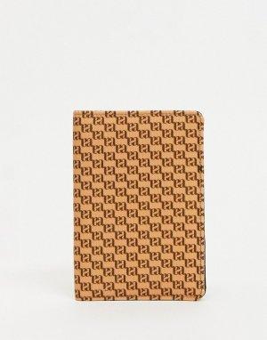 Обложка для паспорта с принтом-монограммой -Многоцветный ASOS DESIGN