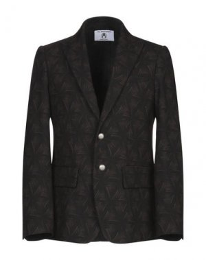 Пиджак ALL APOLOGIES. Цвет: темно-коричневый