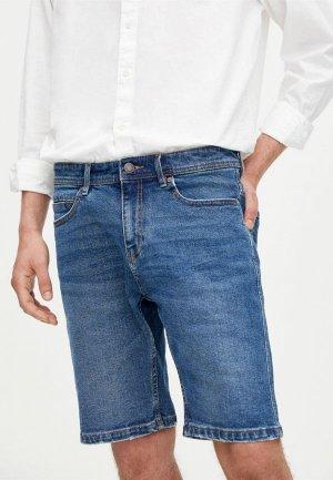 Шорты джинсовые Pull&Bear SLIM. Цвет: синий
