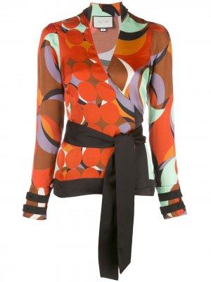 Блузка Tarvos с запахом Alexis. Цвет: оранжевый