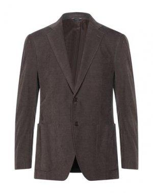 Пиджак TOMBOLINI. Цвет: темно-коричневый