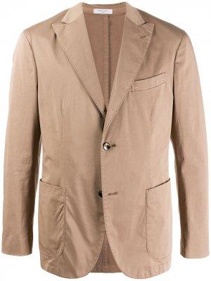 Пиджак строгого кроя Boglioli. Цвет: коричневый